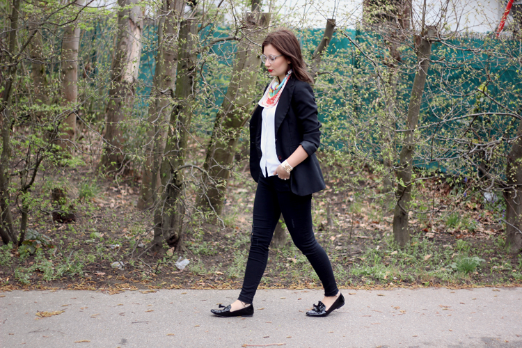 outfit, elegant, neckerchief, moschino, zara, lookbook, dear fashion, mode blog, fashion blog